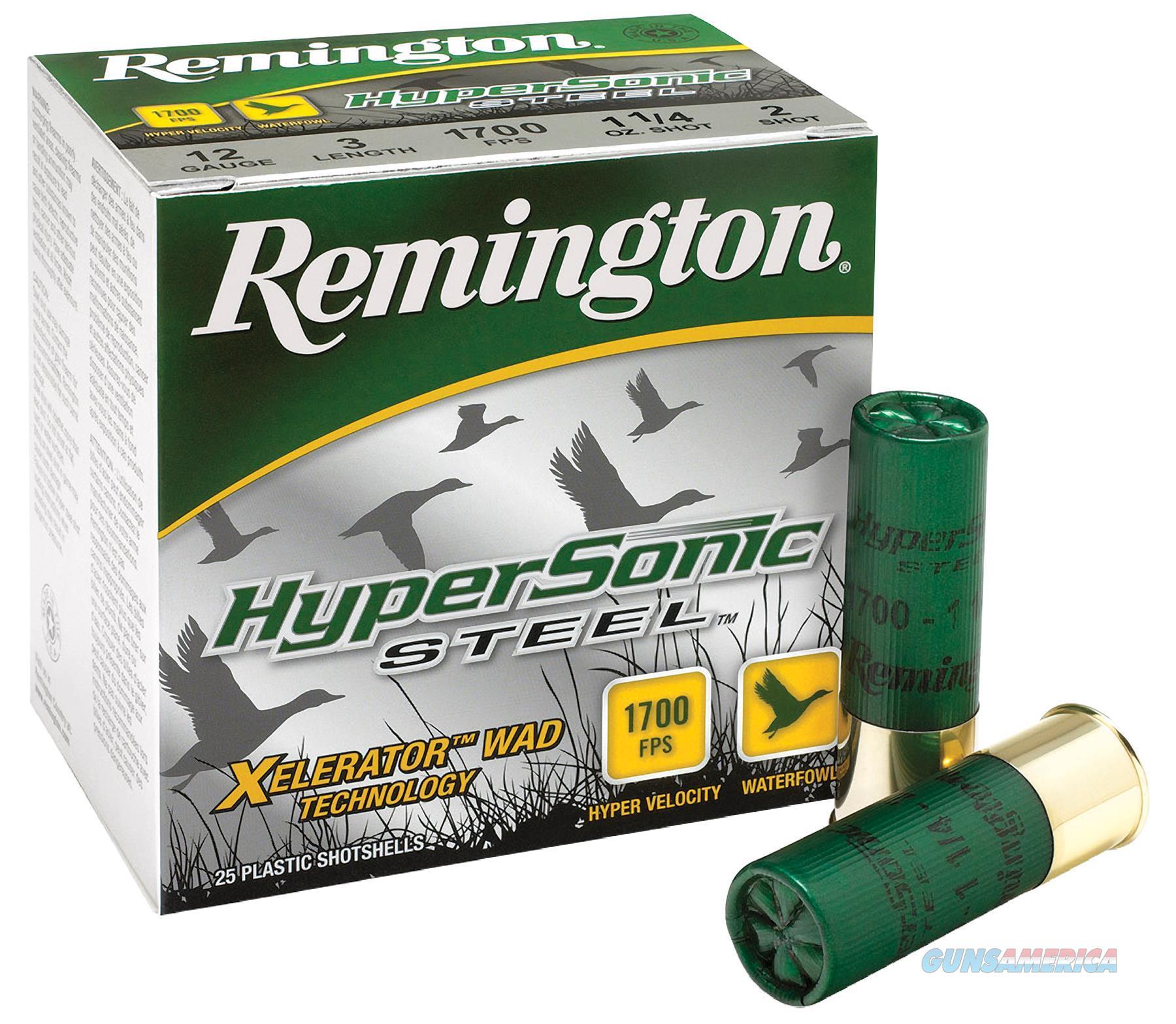 """Rem Hss122 Hypersonic Steel 12 Ga 3"""" 1-1/8 Oz 2 Shot 25Box/10Case HSS122  Non-Guns > Ammunition"""