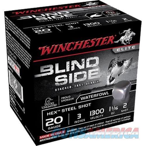 Winchester Ammo Blind Side 20Ga 3'' #2 1-1/16Oz 25/Bx SBS2032  Non-Guns > Ammunition