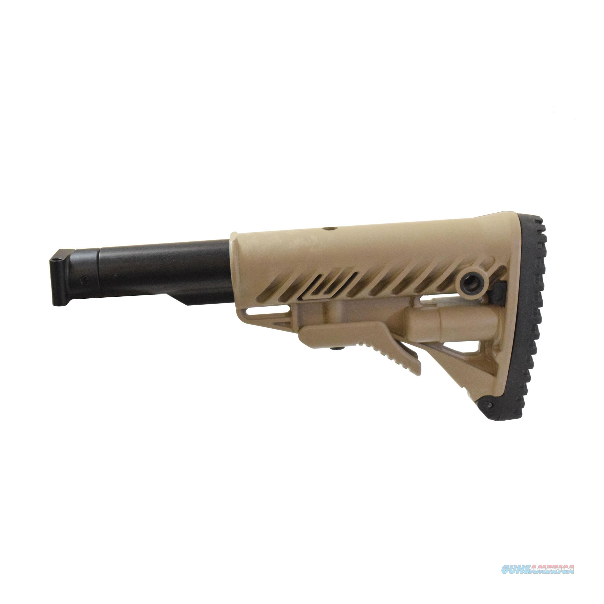 Mako Group Folding Ccollapsible Buttstock System M4-SAIGA-FDE  Non-Guns > Gunstocks, Grips & Wood