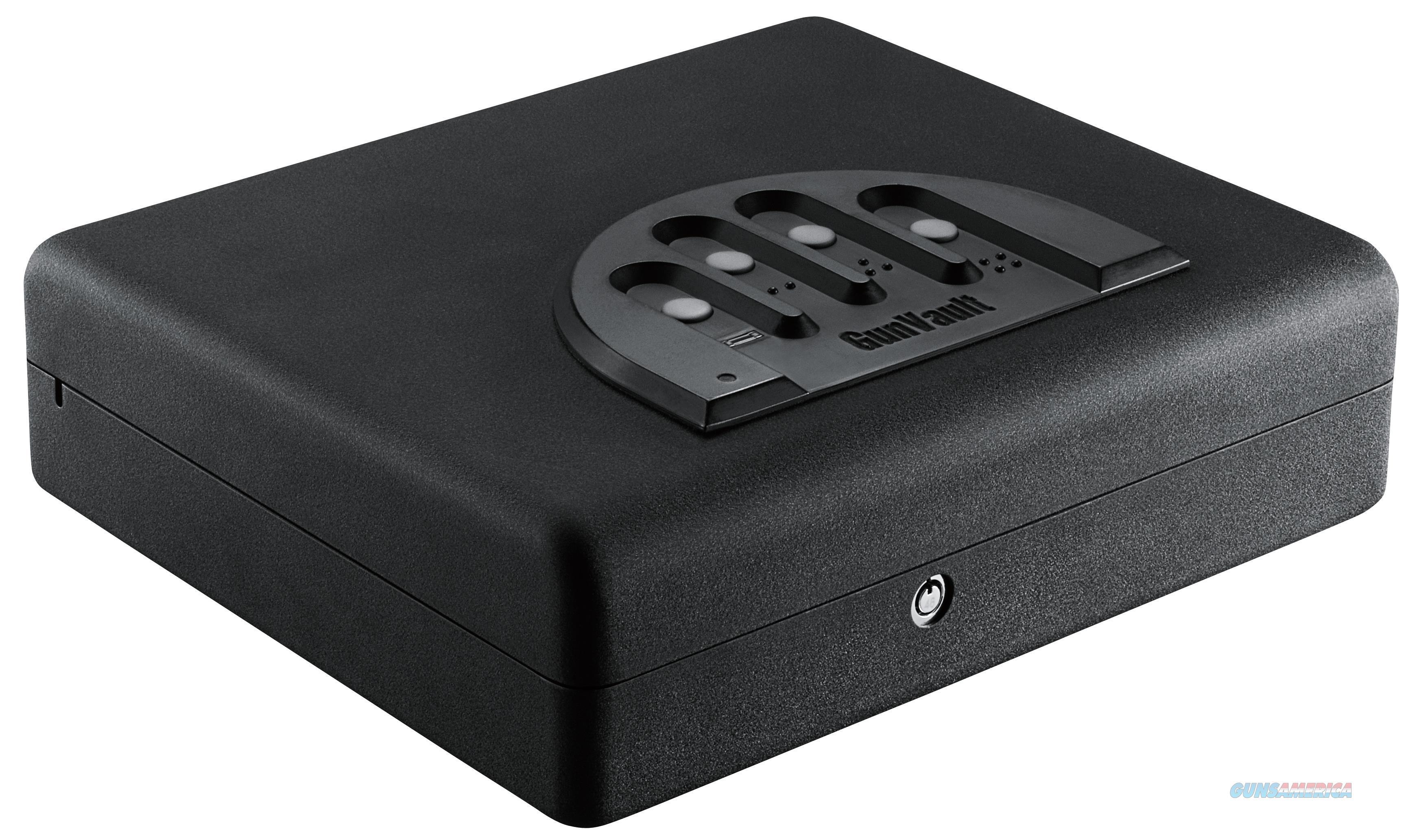 """Gunvault Mvb1000 Microvault Xl Biometric Pistol Safe Fingerprint Id 12"""" W X 10.25"""" D X 3.5"""" H (Exterior) 18 Gauge Steel Black MVB1000  Non-Guns > Gun Safes"""