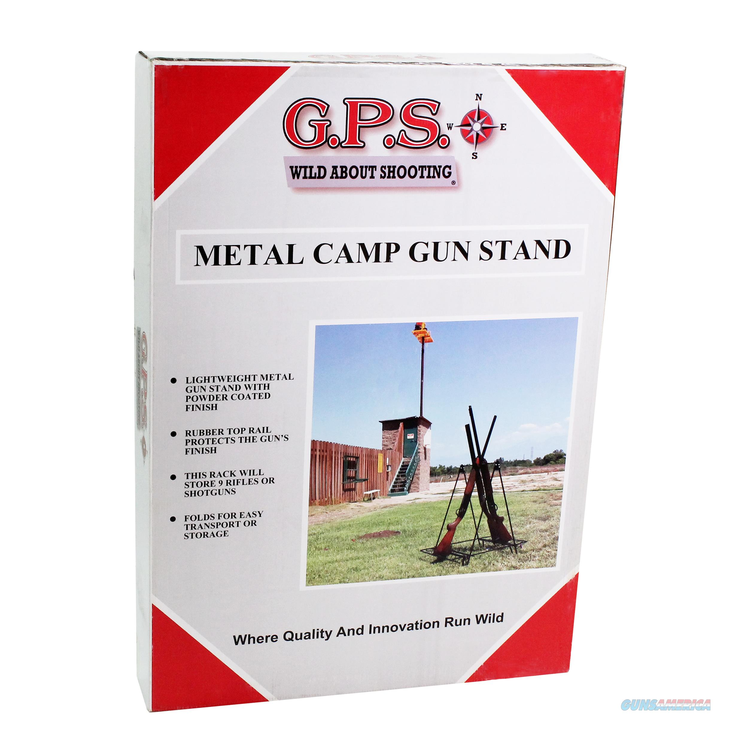 Goutdoors, Inc. Metal Camp Gun Stand 9 Rubber Coated Gun Slots GPS-3524MCS  Non-Guns > Gun Displays/Racks