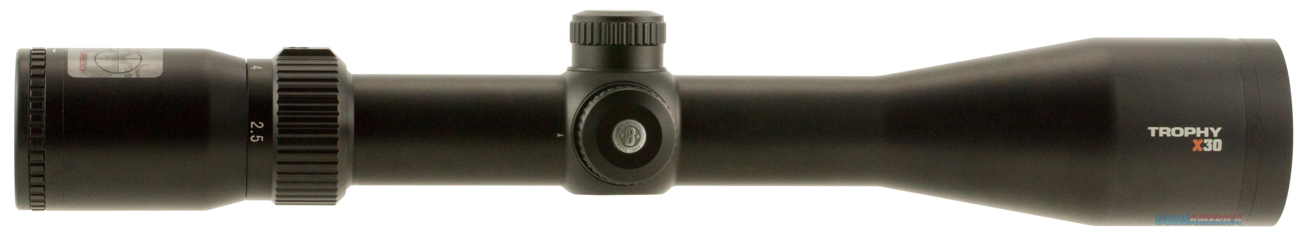 Bushnell 752104B Trophy 2.5-10X 44Mm Obj 45-140 Ft @ 100 Yds Fov 30Mm Tube Dia Black Matte Doa Lr600 752104B  Non-Guns > Scopes/Mounts/Rings & Optics > Rifle Scopes > Variable Focal Length