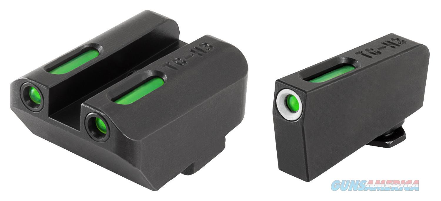 Truglo Tg13gl4a Tfx Day/Night Sights Low Set Glock 17/17L/19/22/23/24/26/27/33/34/35/38/39 Tritium/Fiber Optic Green Tritium W/White Outline Tritium/Fiber Optic Green Black TG13GL4A  Non-Guns > Iron/Metal/Peep Sights