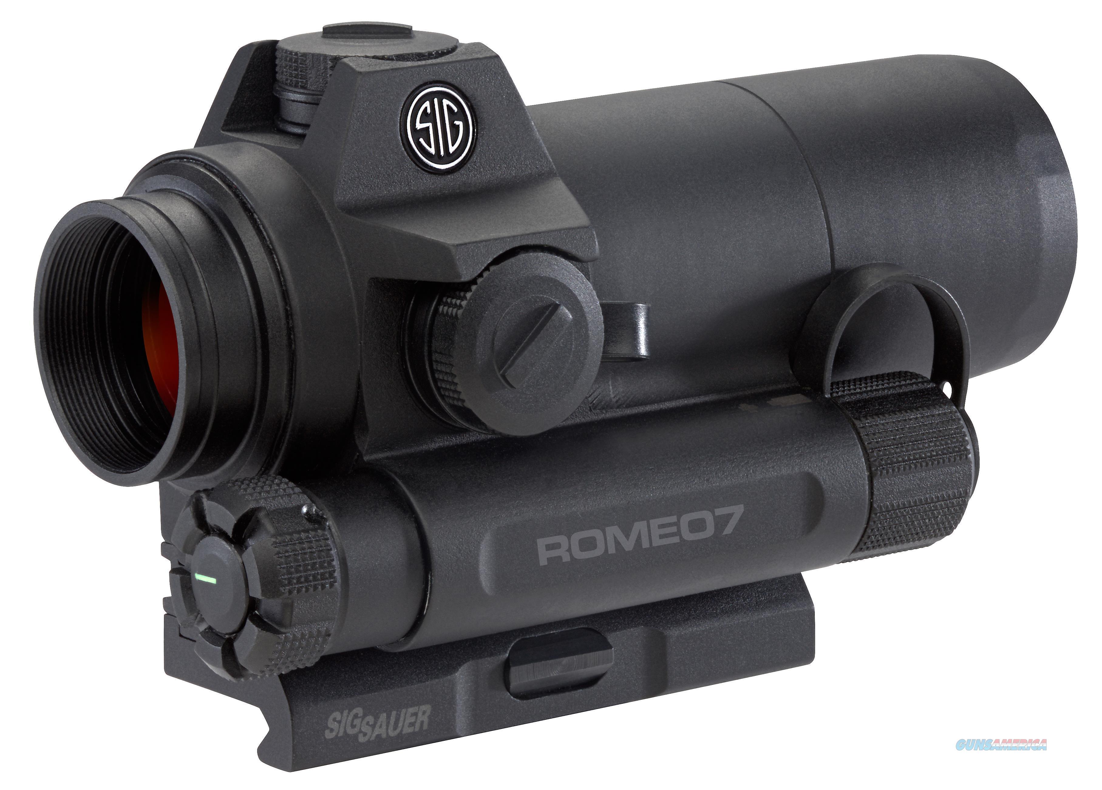 Sig Sauer Electro-Optics Sor71001 Romeo7 1X 30Mm Obj 2 Moa Illuminated Red Dot Black Aa SOR71001  Non-Guns > Scopes/Mounts/Rings & Optics > Rifle Scopes > Variable Focal Length