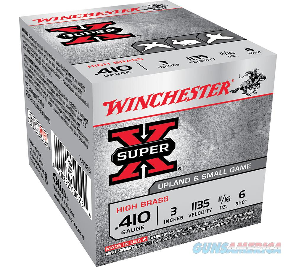 Winchester Super-X High Brass Game Ld 410Ga 3 #6 X4136  Non-Guns > Ammunition