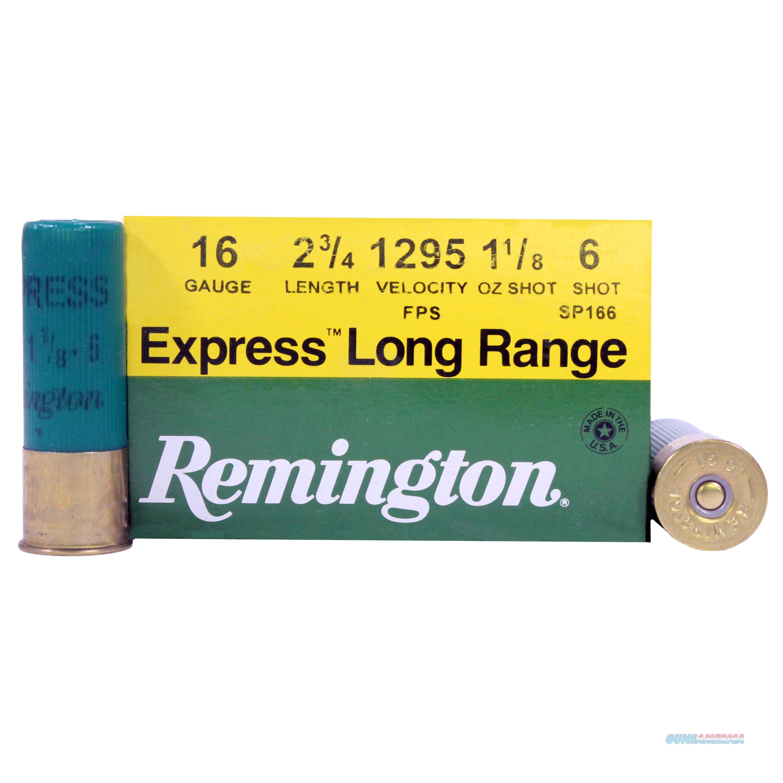 Remington Express Extra Lr 16Ga 2.75'' 1-1/8Oz #6 25/Bx SP166  Non-Guns > Ammunition