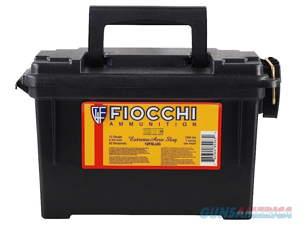 "Fiocchi 12Flrslu Rifled Slug 12 Gauge 2.75"" 1 Oz Slug Shot 80 Bx/ 1 Cs 12FLRSLU  Non-Guns > Ammunition"
