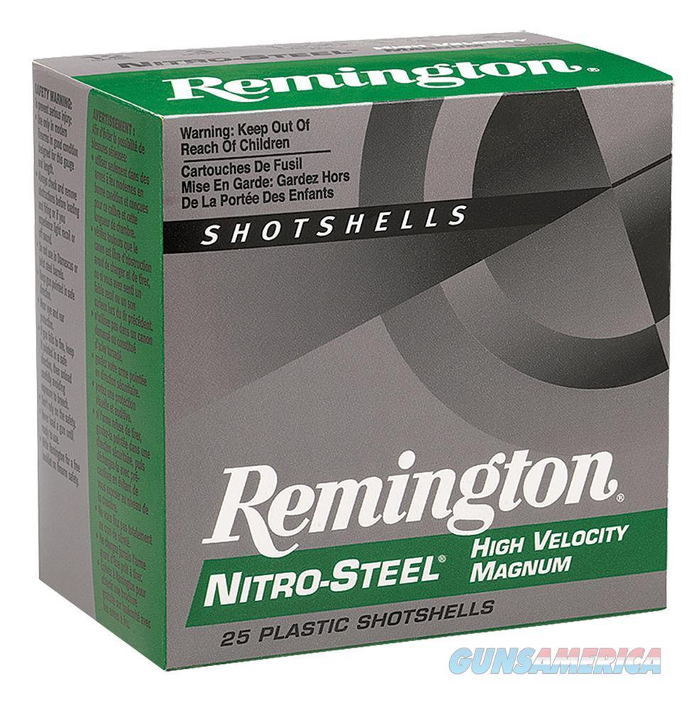 """Remington Ns12hmt Nitro Steel Shotshells 12 Ga 3"""" 1.4 Oz T Shot 25Box/10Case NS12HMT  Non-Guns > Ammunition"""
