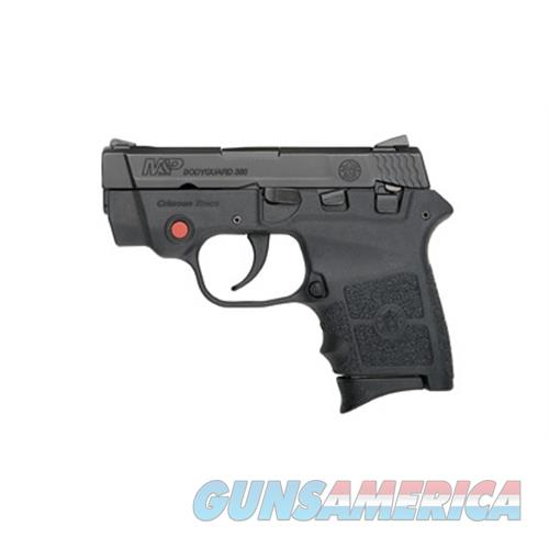 """Smith & Wesson 10048 M&P Bodyguard 380 With Crimson Trace Red Laser Double 380 Automatic Colt Pistol (Acp) 2.75"""" 6+1 Black Polymer Grip/Frame Grip Black Stainless Steel 10048  Guns > Pistols > S Misc Pistols"""
