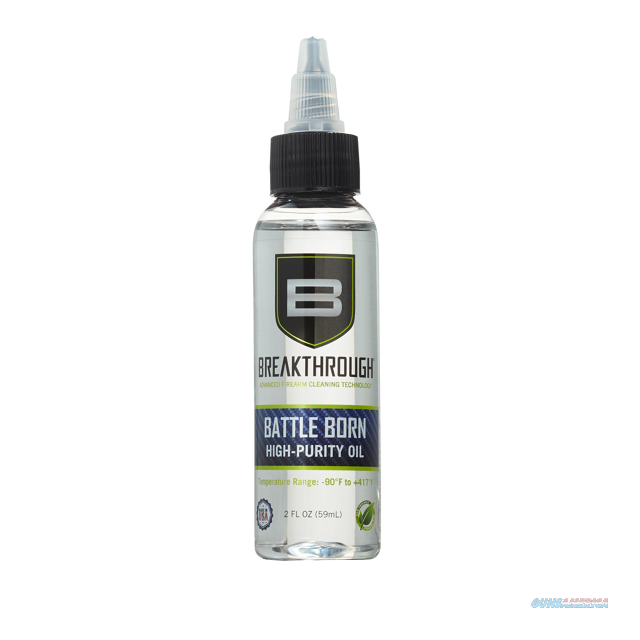 Breakthrough Clean Battle Born High Purity Oil BTO-2OZ  Non-Guns > Gunsmith Tools/Supplies