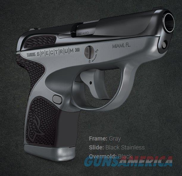 "NIB Taurus Spectrum 380 ACP 2.8"" Gray/Black  Guns > Pistols > Taurus Pistols > Semi Auto Pistols > Polymer Frame"