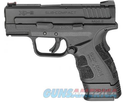 SPRINGFIELD ARMORY XD-9 SUB COMPACT MOD2 NIB FREE SHIPPING  Guns > Pistols > Springfield Armory Pistols > XD (eXtreme Duty)