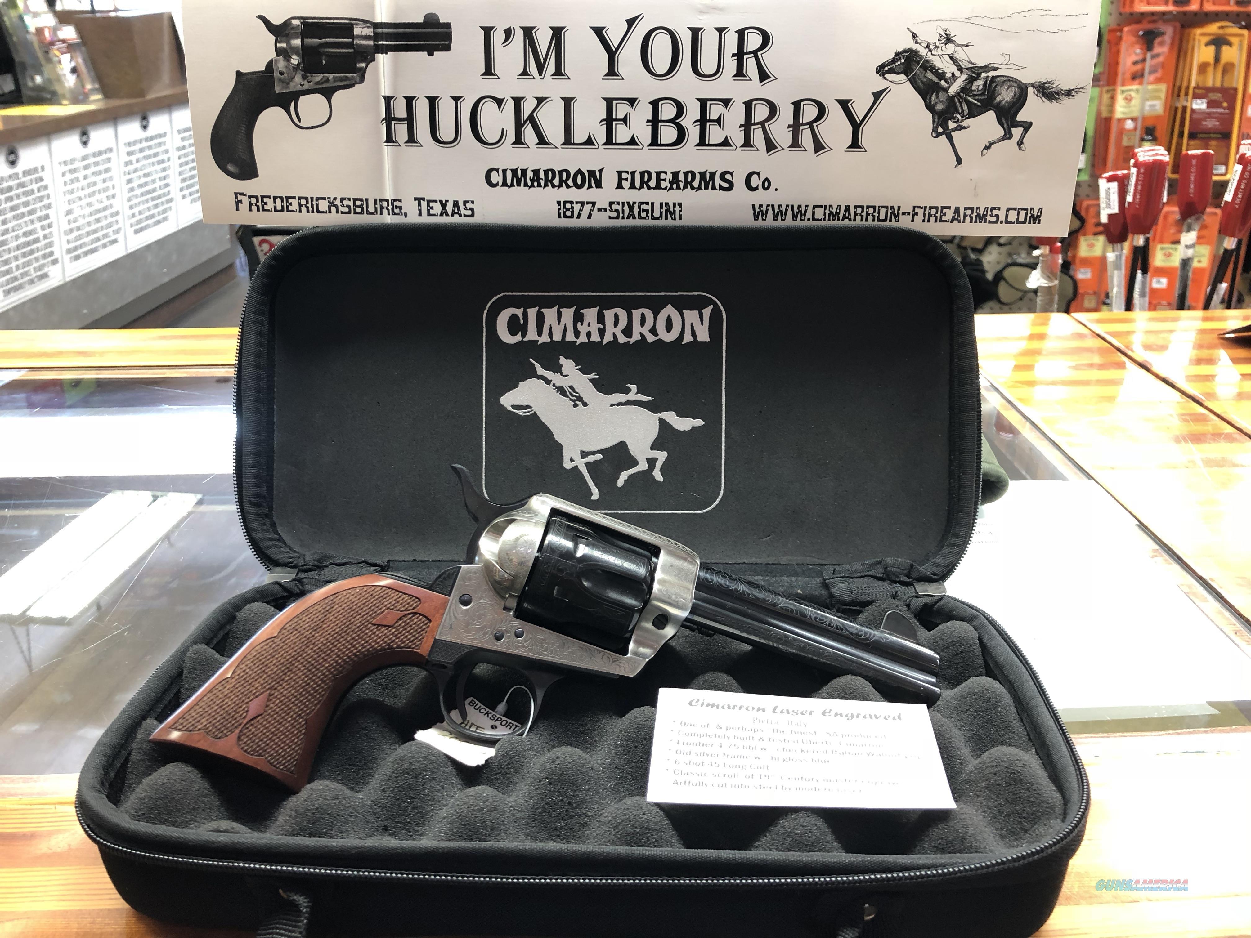 Cimarron 1873 Laser Engraved 45 Colt  Guns > Pistols > Cimarron Pistols