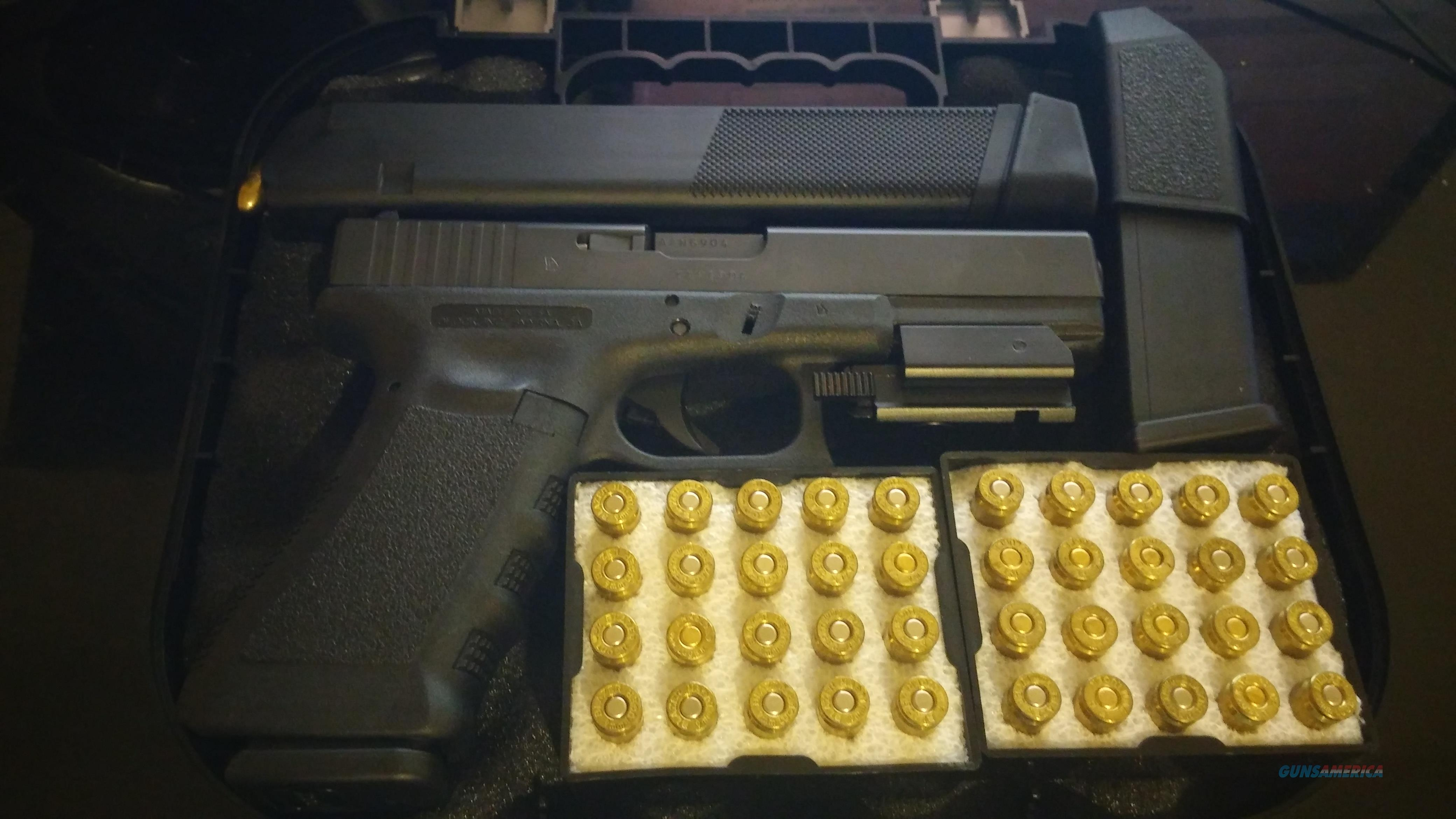 Glock 17 plus Extended Mag, Red Beam Sight, 100 Luger rd  Guns > Pistols > Glock Pistols > 17