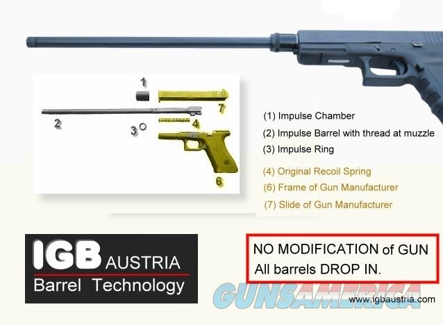 "Glock 10"" Barrel - IGB Austria 10"" Barrel For Glock 17, 17L, 19, 20, 21, 22, 23, 24, 31, 34, 35  Non-Guns > Barrels"