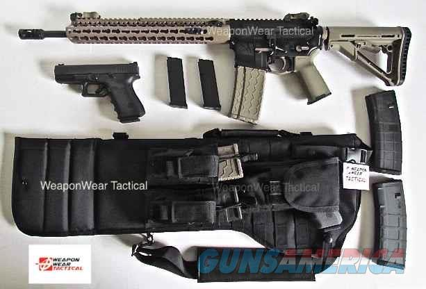 AR 15 Rifle Case Black Pistol & Mag Pouch included  Non-Guns > Gun Cases