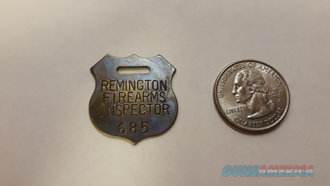 Remington Firearms Inspector Tag Brass  Non-Guns > Logo & Clothing Merchandise