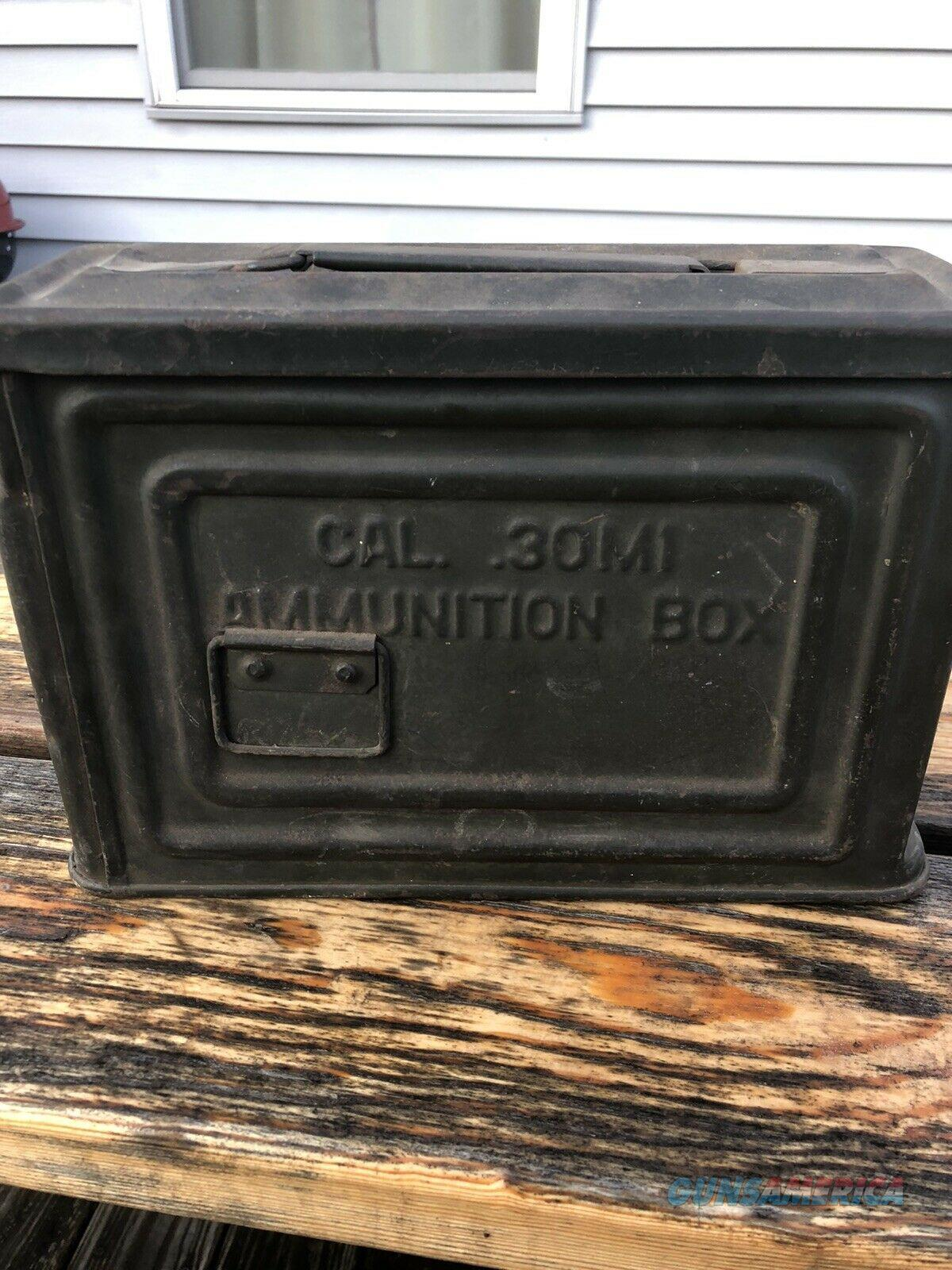 WW2 US ARMY AMMUNITION Ammo CAN Box Cal 30 M1 Flaming Bomb REEVES WWII Military.  Non-Guns > Gun Cases