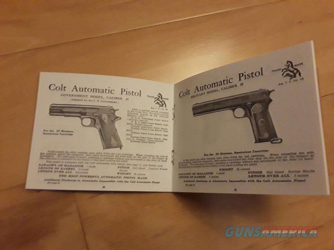Colt 1922 Pocket Catalog Reproduction  Non-Guns > Manuals - Print