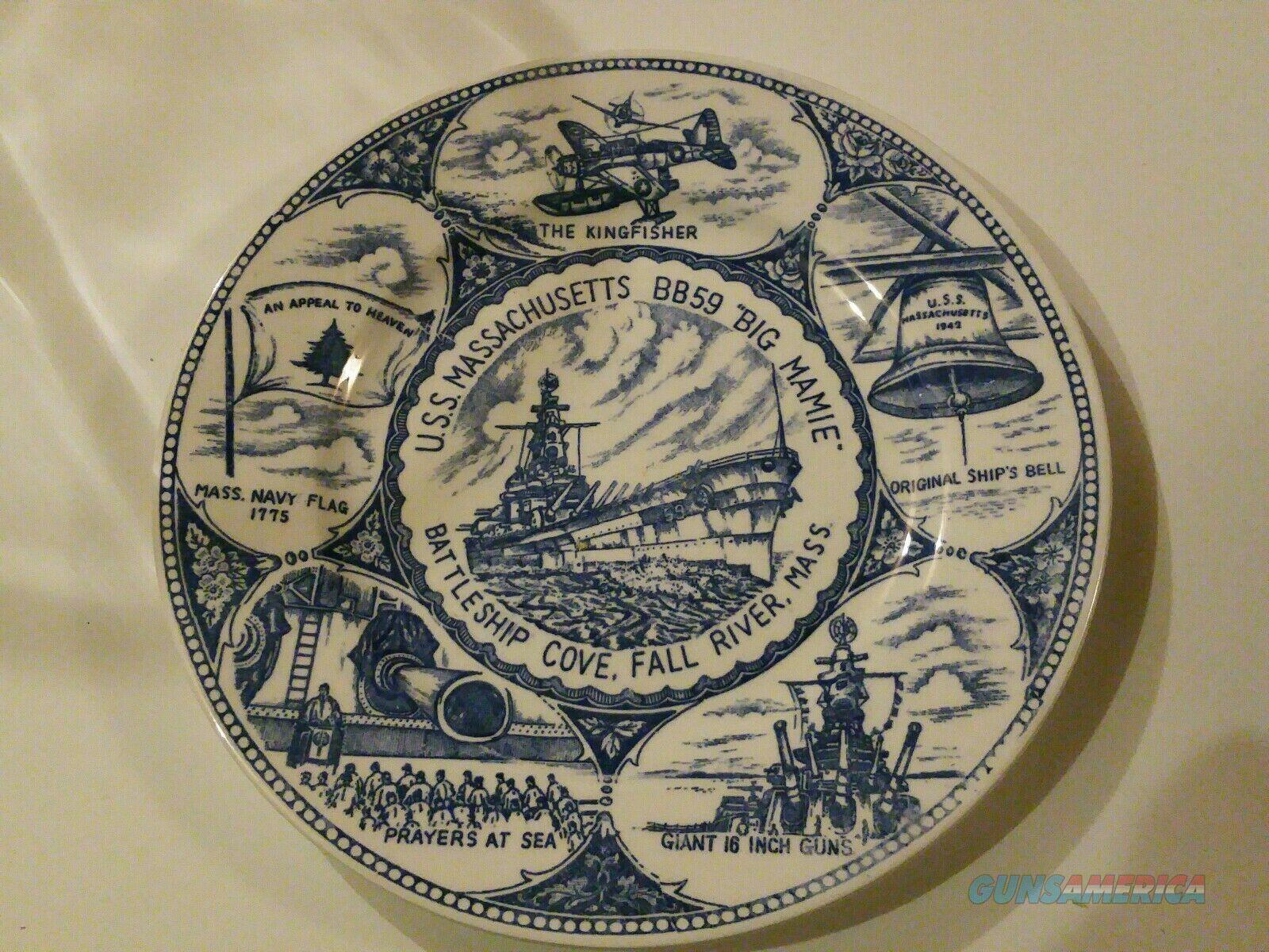 USS Massachusetts BB59 Battleship Plate Battleship Cove  Non-Guns > Military > Memorabilia