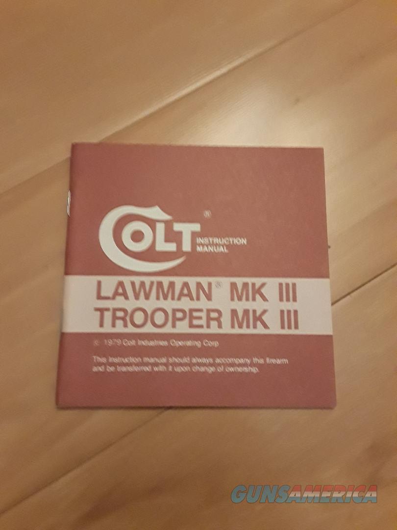 Colt Lawman MKIII & Trooper MKII Manual  Non-Guns > Manuals - Print
