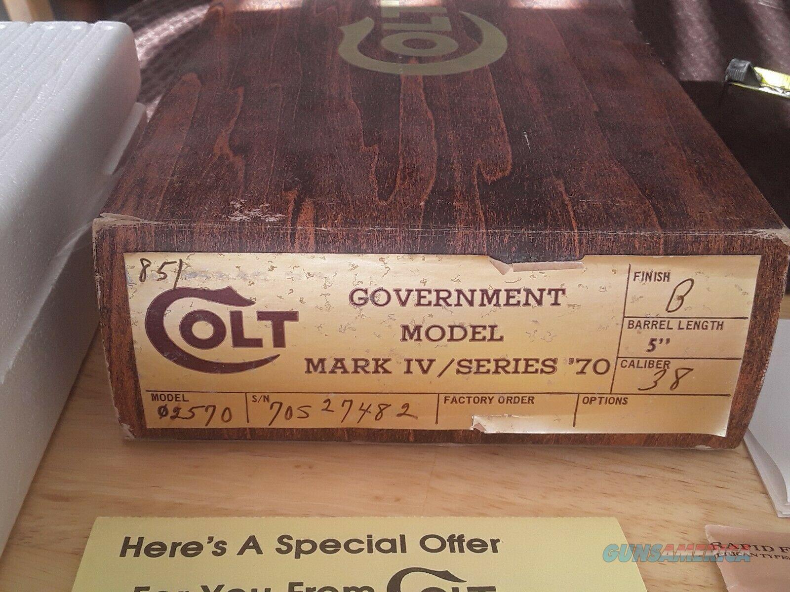Colt 1911 Government Model Mark IV Series 70 38 Super Box  Non-Guns > Gun Cases