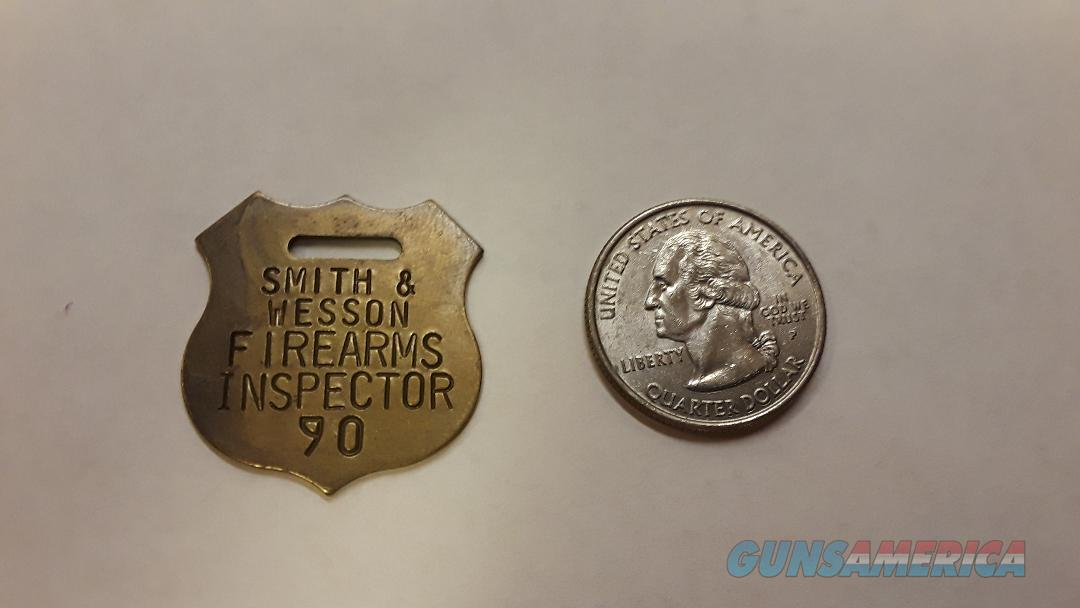 Smith & Wesson Firearms Inspector Tag Brass  Non-Guns > Logo & Clothing Merchandise
