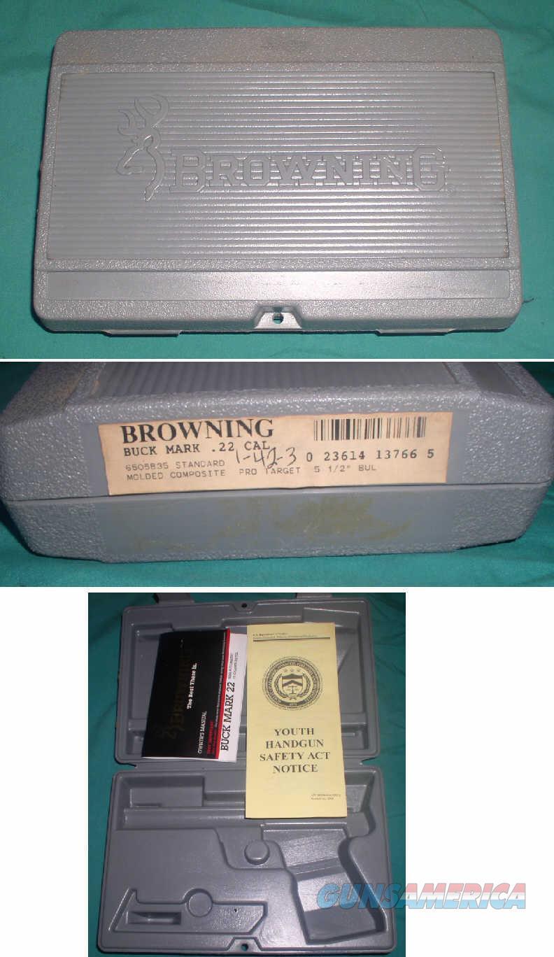 Browning Buck Mark Pro Target Factory Hard Plastic  Non-Guns > Gun Cases