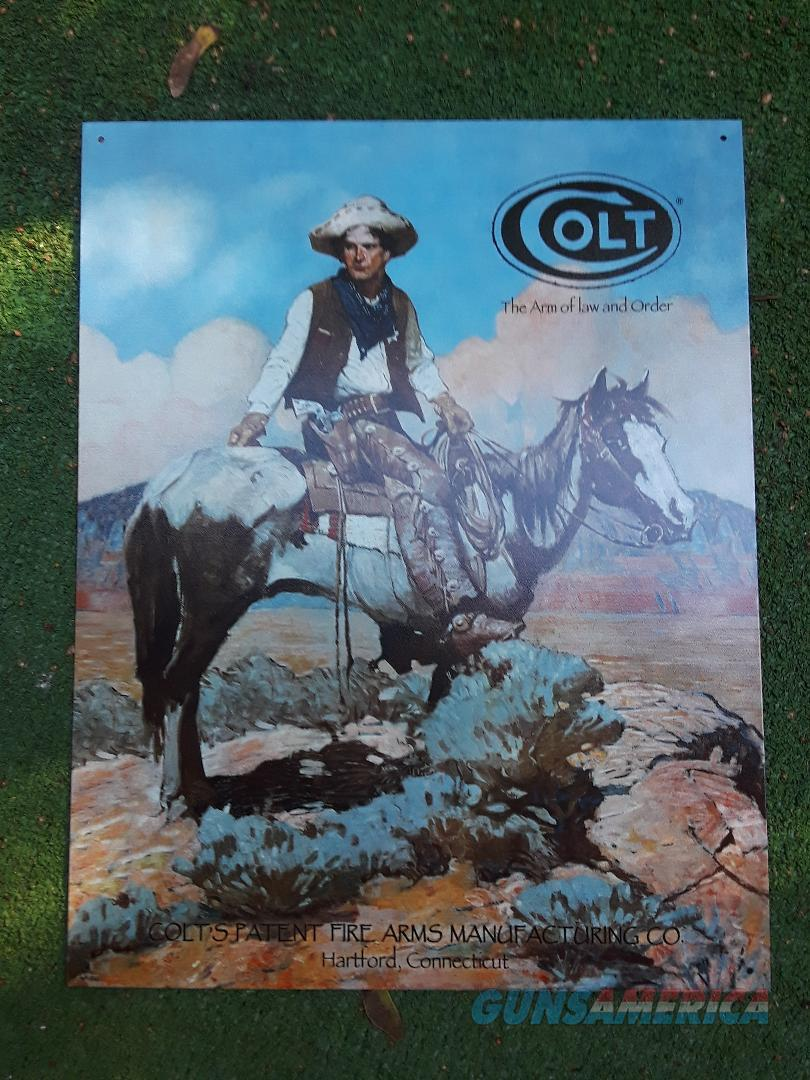 "Colt Firearms Tin Sign 16"" x 12.5""  Non-Guns > Logo & Clothing Merchandise"