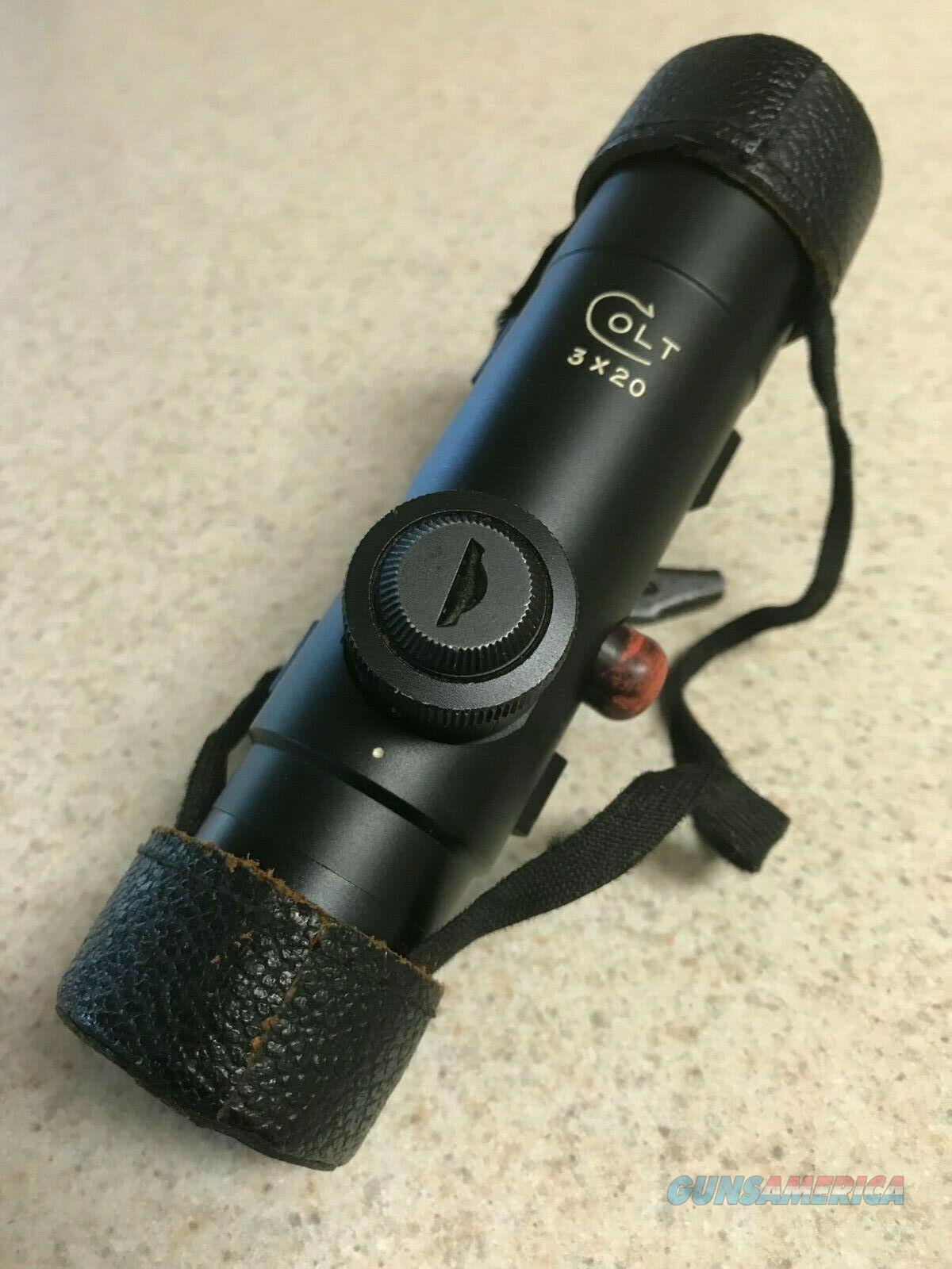 Colt AR-15 3 X 20 Scope with Lens Cap  Non-Guns > Scopes/Mounts/Rings & Optics > Rifle Scopes > Fixed Focal Length