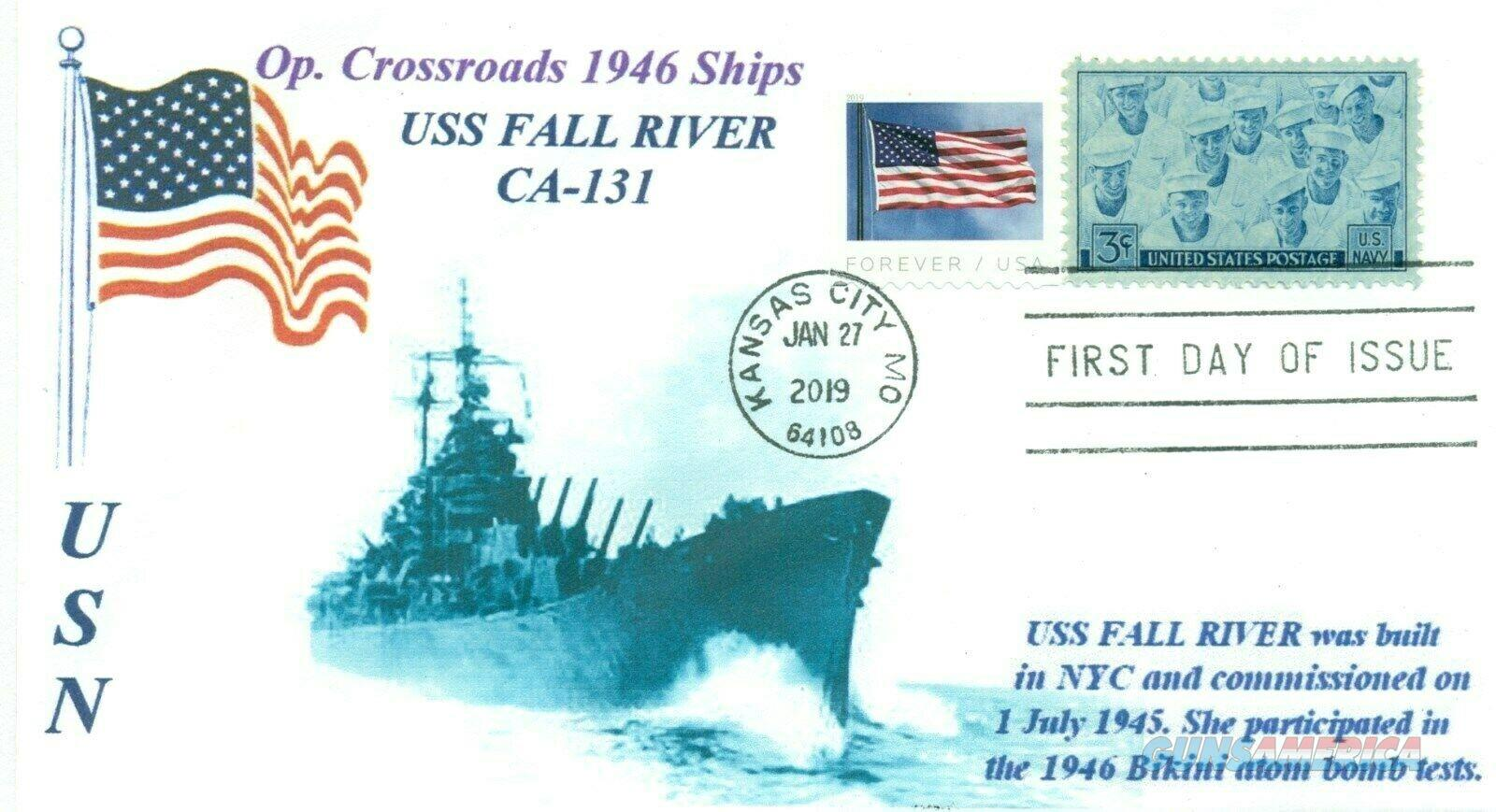 USS FALL RIVER CA-124 memorial naval first day cover with postmark   Non-Guns > Military > Memorabilia