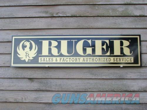 Ruger Re-Production Sign Free Shipping  Non-Guns > Logo & Clothing Merchandise