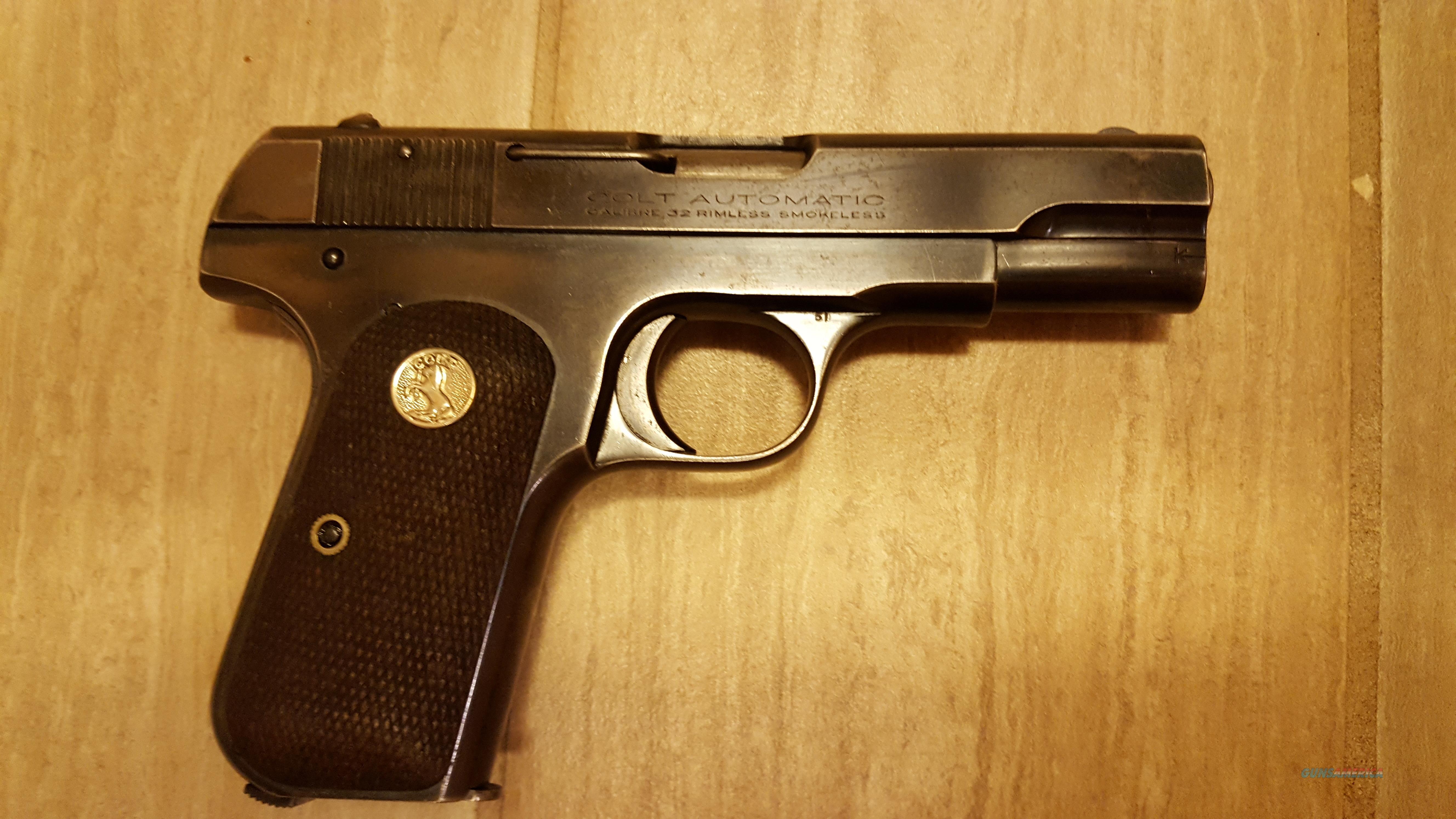 1903 Colt HAMMERLESS .32  Guns > Pistols > Colt Automatic Pistols (.25, .32, & .380 cal)