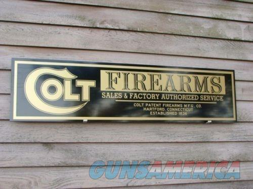 Colt Firearms Re-Production Sign 1'x46'' Free Ship  Non-Guns > Logo & Clothing Merchandise
