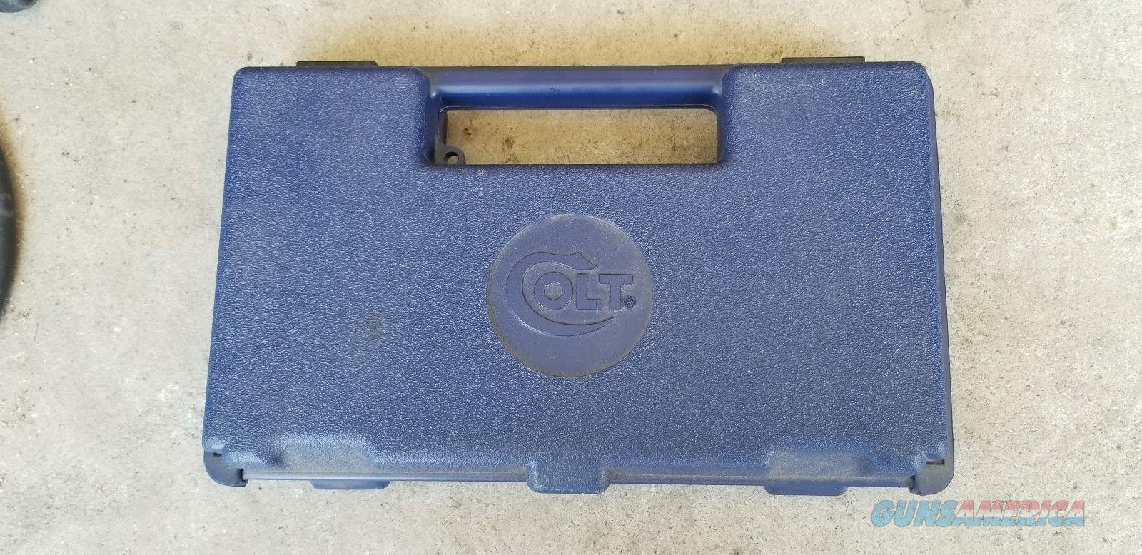 Colt-Revolver-Blue-Hard-Plastic-Gun-Case  Non-Guns > Gun Cases