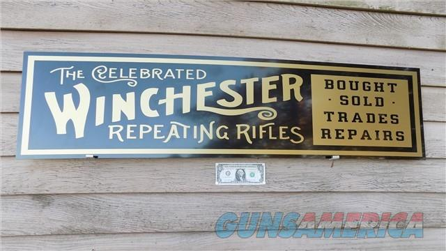 Winchester Re-Production Sign Free Shipping  Non-Guns > Logo & Clothing Merchandise