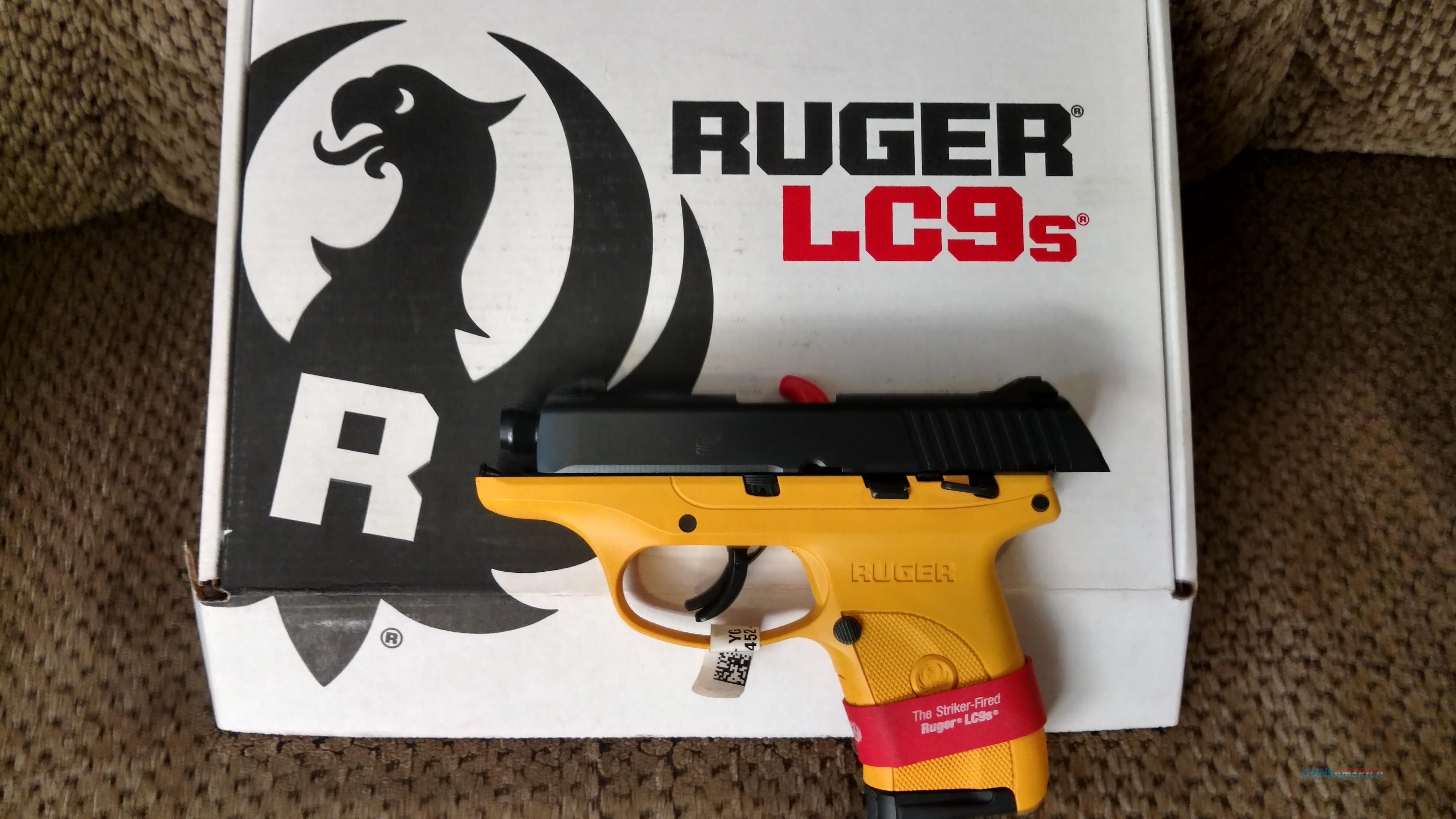 Yellow/Black Ruger LC9s w/thumb safety  Guns > Pistols > Ruger Semi-Auto Pistols > LC9