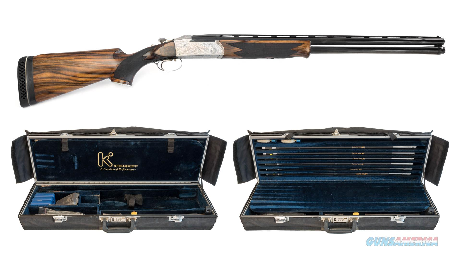 "Krieghoff K80 Nickeled Super Scroll 28"" O/U Shotgun  Guns > Shotguns > Krieghoff Shotguns"