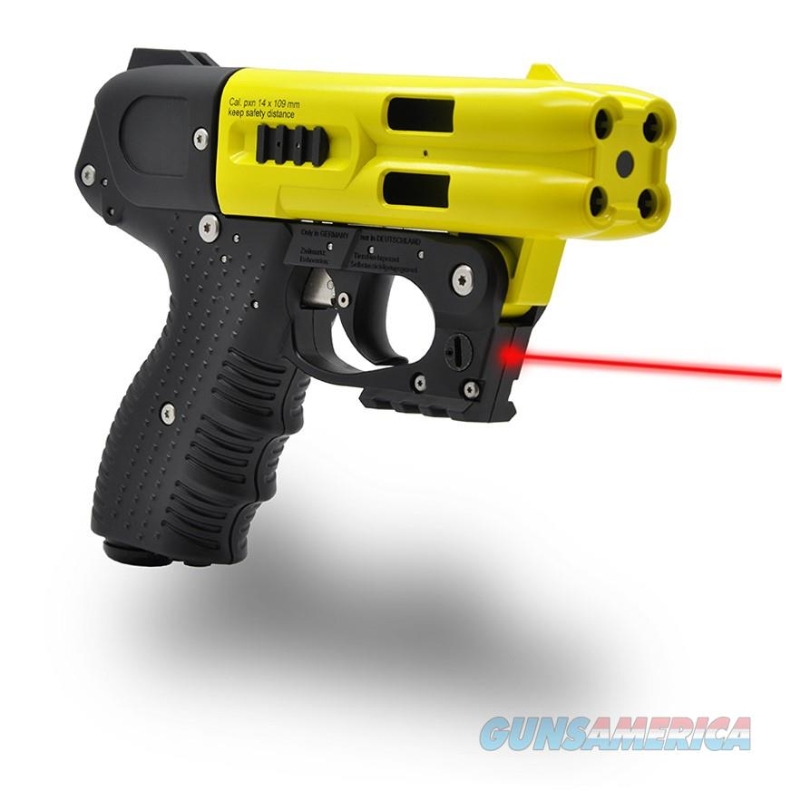 JPX 4 LE 4 SHOT PEPPER SPRAY GUN YELLOW  Non-Guns > Launchers - Non Lethal