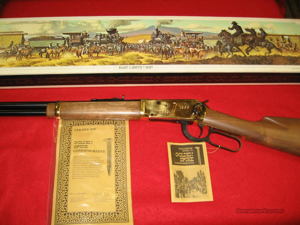 Win Golden Spike  Guns > Rifles > Winchester Rifle Commemoratives