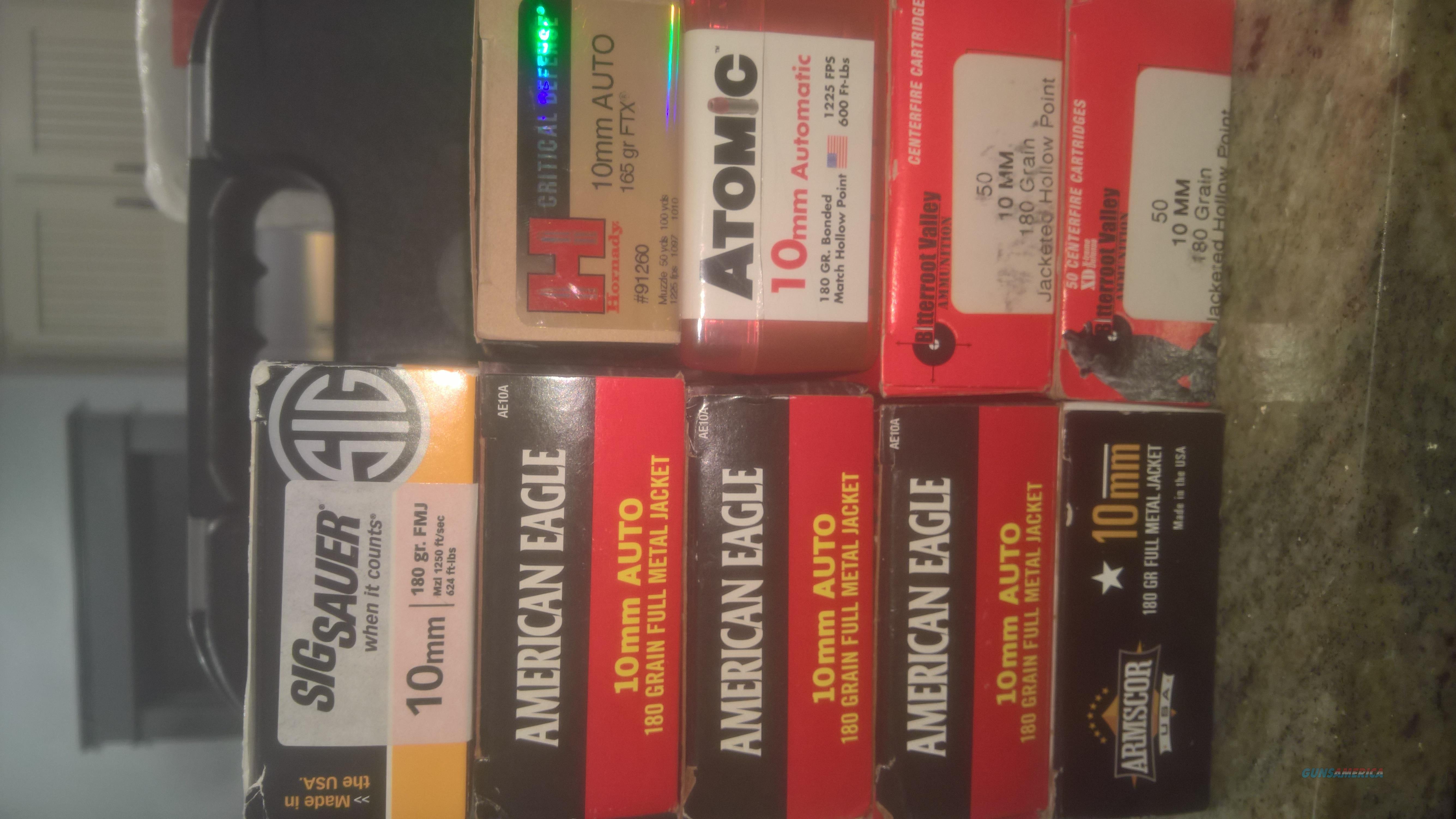 Various Brands of 10MM ammunition 420 rounds  Non-Guns > Ammunition