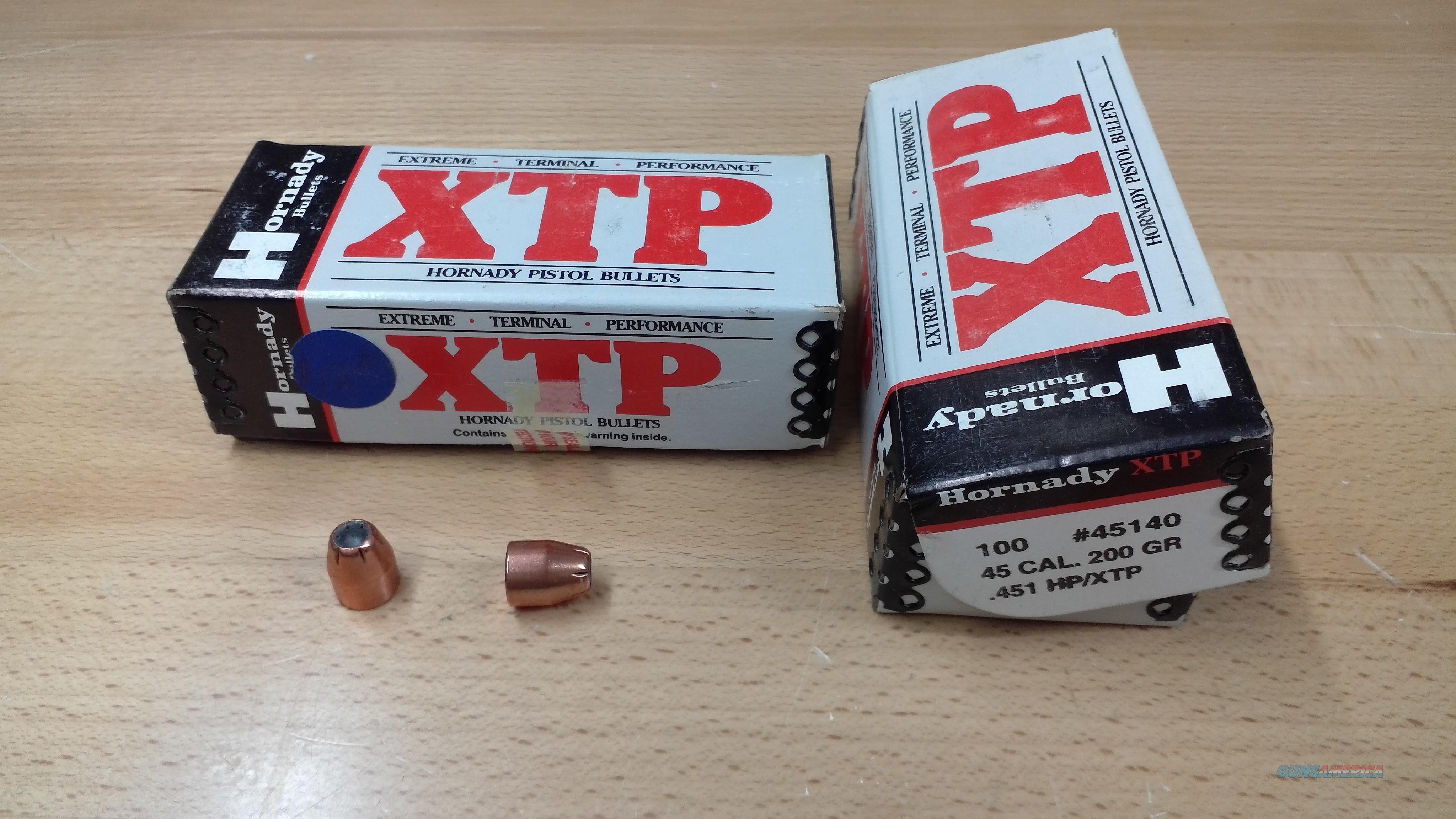 Hornady 45cal XTP Projectiles  Non-Guns > Reloading > Components > Bullets