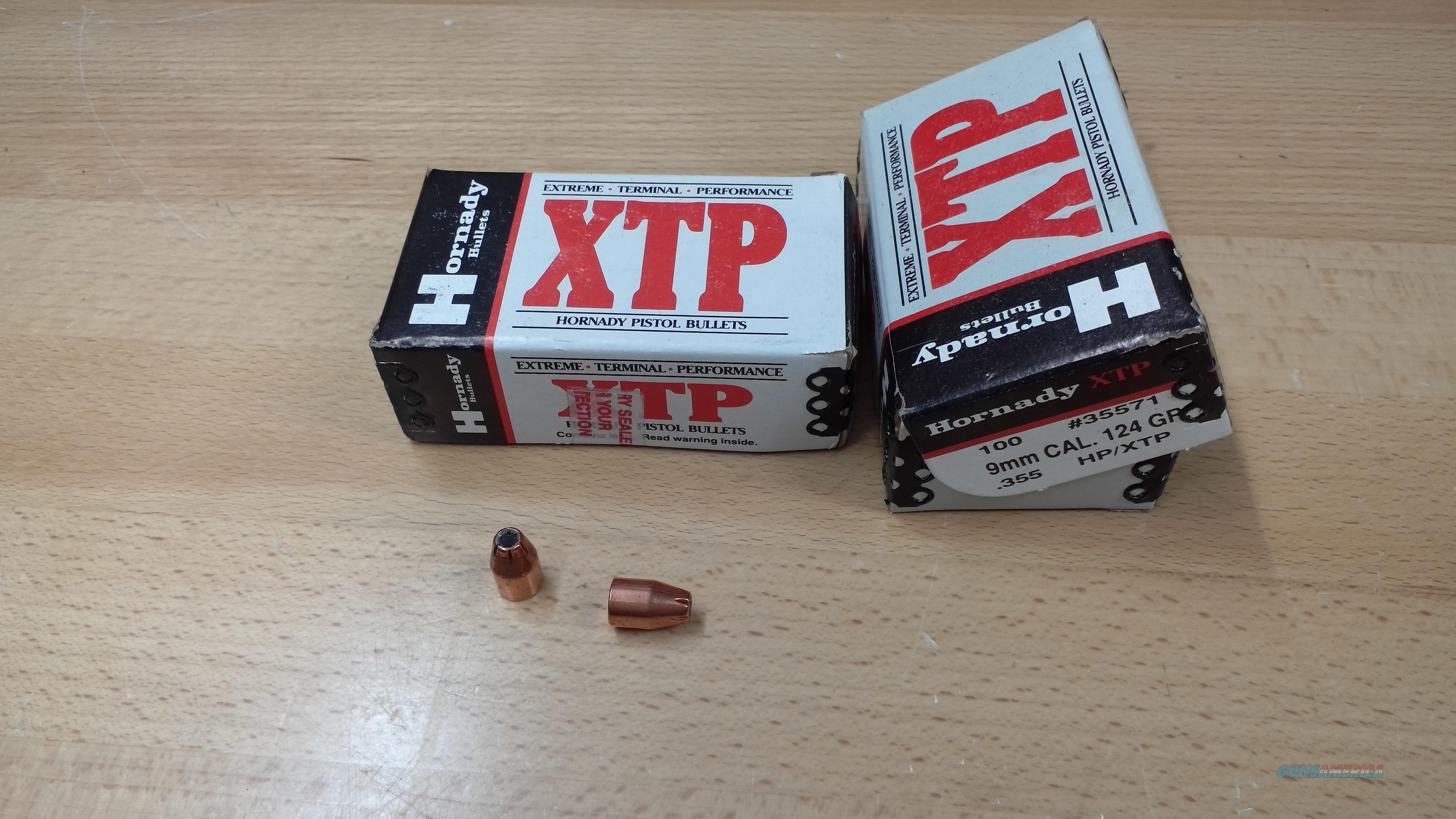 Hornady 9mm XTP Projectiles  Non-Guns > Reloading > Components > Bullets