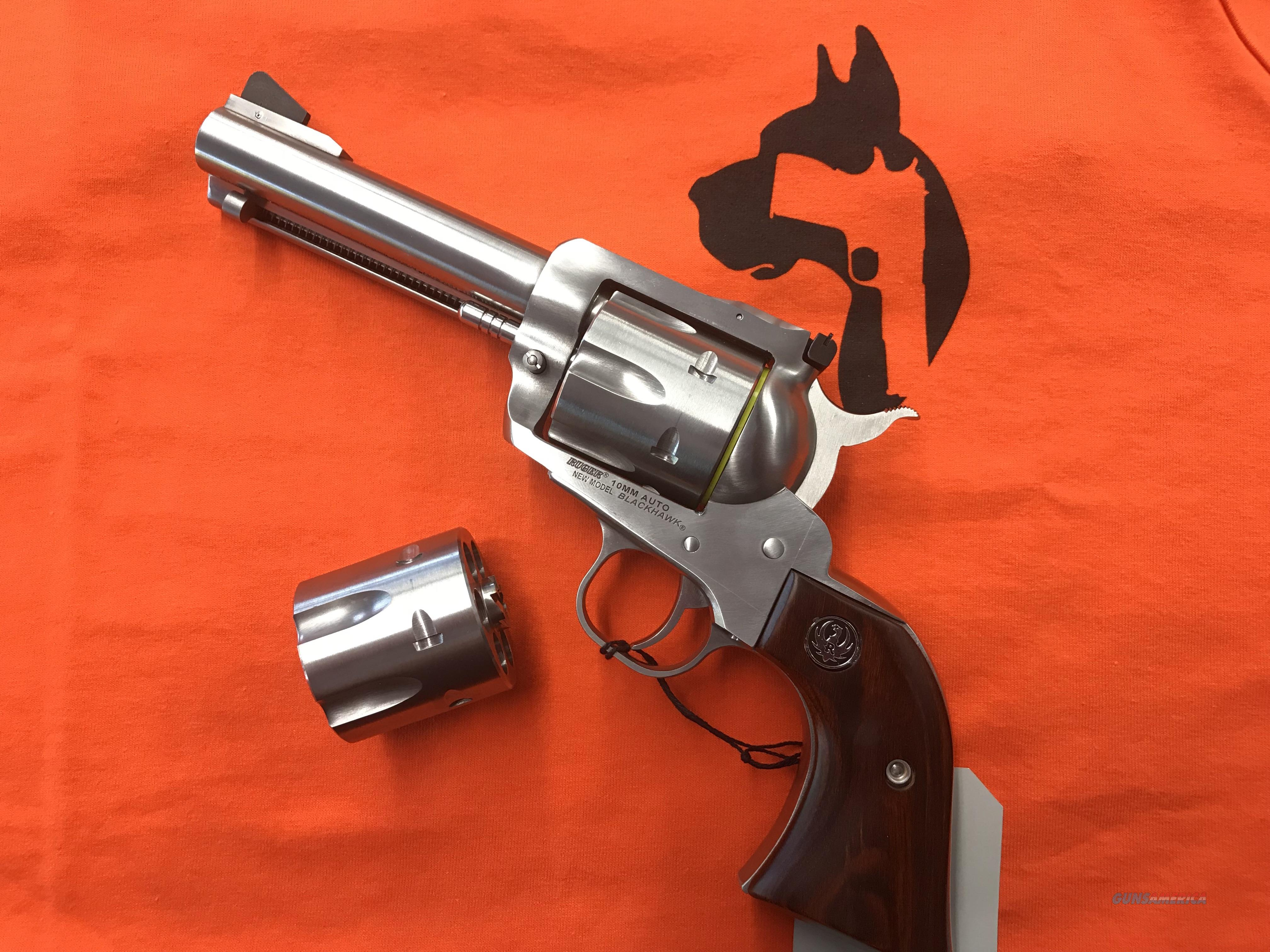 RUGER BLACKHAWK  .10MM  WITH ADDL. .40 CAL.WHEEL  Guns > Pistols > Ruger Single Action Revolvers > Blackhawk Type