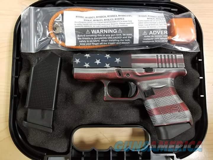 NIB Glock 43 FS American Flag 9mm  Guns > Pistols > Glock Pistols > 43
