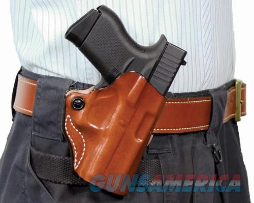 Desantis Mini Scabbard Holster - Rh Owb Leather B-guard 380 Tan  Guns > Pistols > 1911 Pistol Copies (non-Colt)