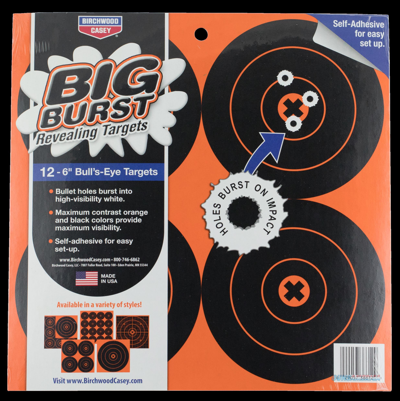 Birchwood Casey Big Burst, Bir 36612 Big Burst 6  Targets               12pk  Guns > Pistols > 1911 Pistol Copies (non-Colt)