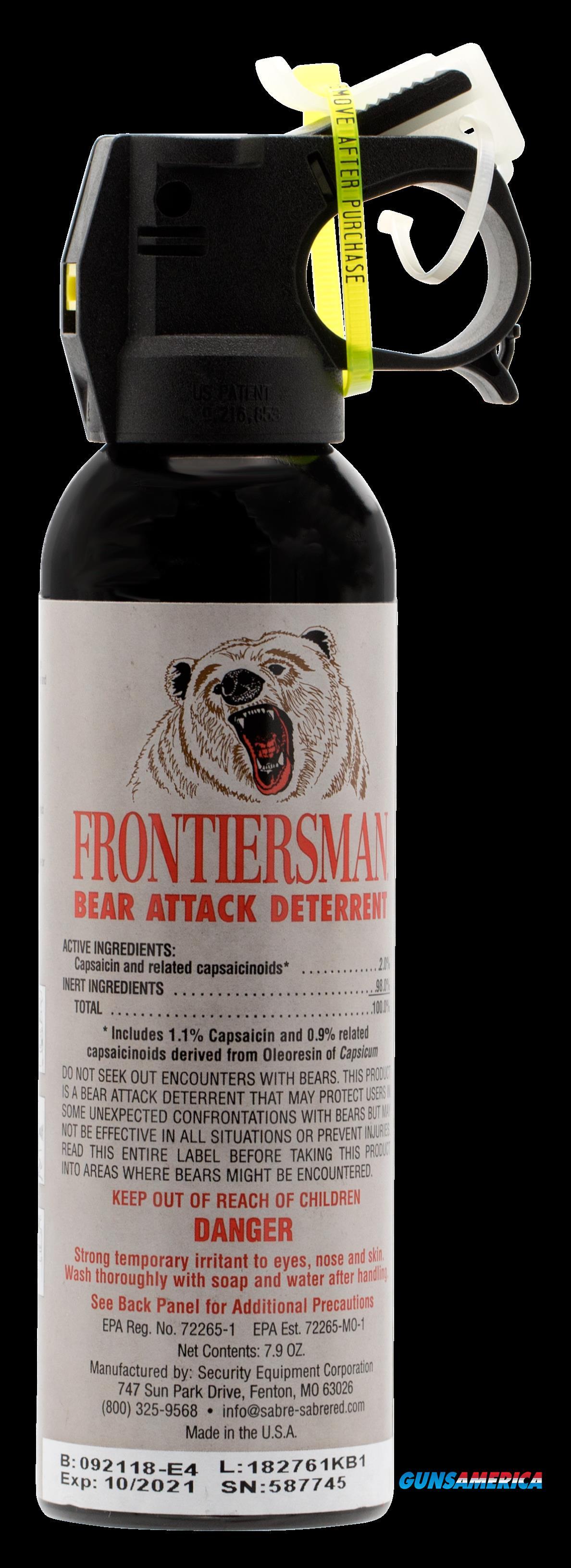 Sabre Frontiersman, Sec Fbad03    Frontiersman 7.9oz Bear Spray  Guns > Pistols > 1911 Pistol Copies (non-Colt)