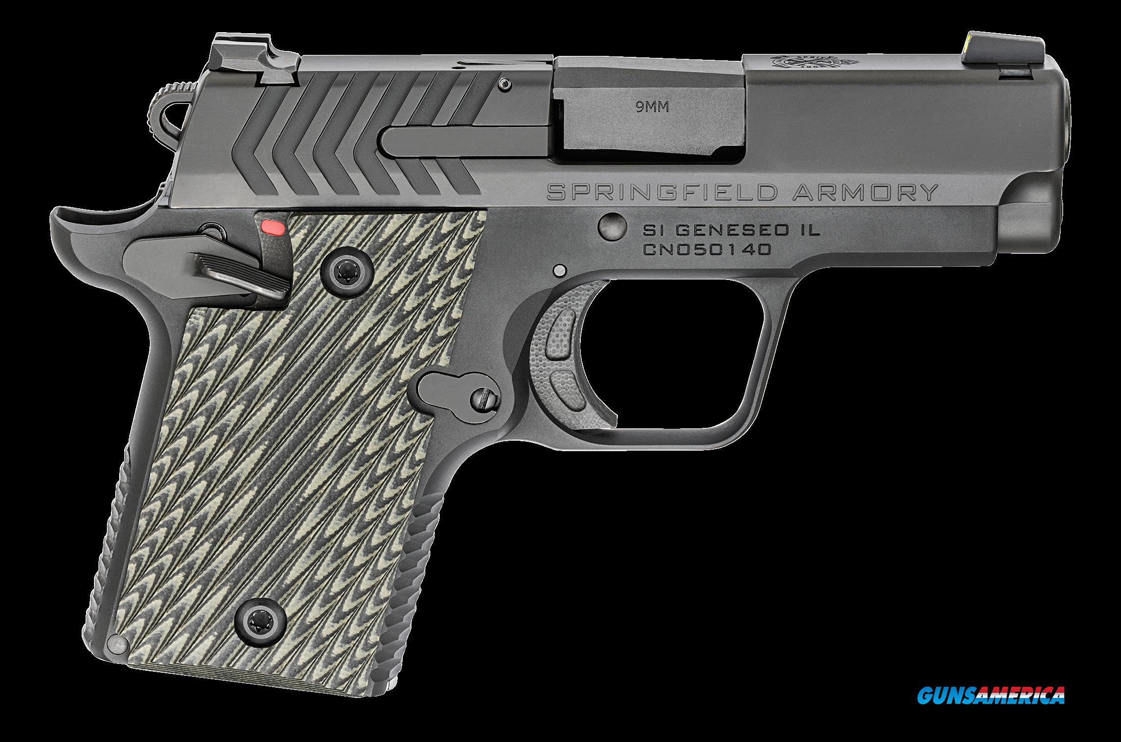 Springfield Armory 911, Spg Pg9119        9mm 911 3in Ntrd      Blk  6-7r  Guns > Pistols > 1911 Pistol Copies (non-Colt)