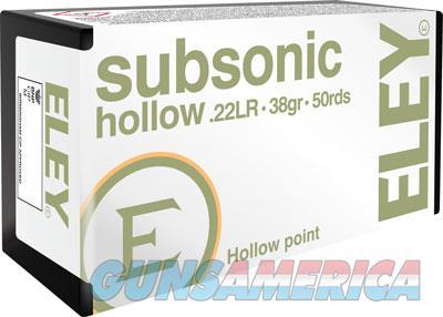 Eley Subsonic Hollow Point - 22lr 38gr. 50 Pack  Guns > Pistols > 1911 Pistol Copies (non-Colt)